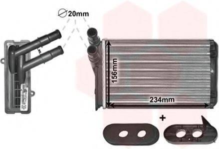 Теплообменник, отопление салона VAN WEZEL 58006060