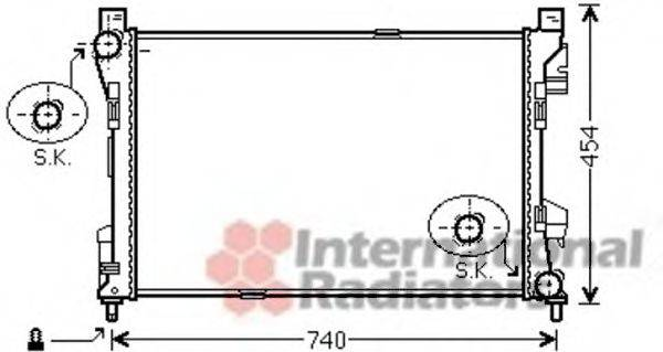 Радиатор, охлаждение двигателя VAN WEZEL 30002463