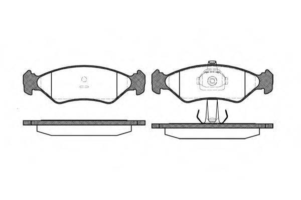 WOKING P385320 Комплект тормозных колодок, дисковый тормоз