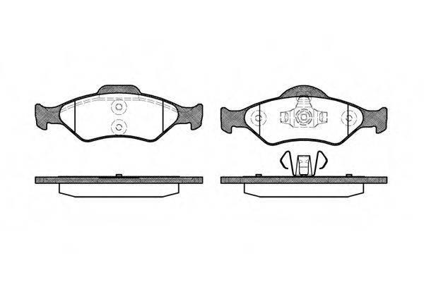 WOKING P665300 Комплект тормозных колодок, дисковый тормоз