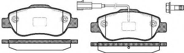 WOKING P1000311 Комплект тормозных колодок, дисковый тормоз