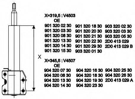 Амортизатор MONROE V4503