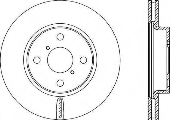 OPEN PARTS BDR231720 Тормозной диск