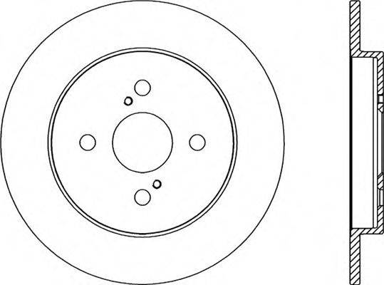 OPEN PARTS BDA229310 Тормозной диск