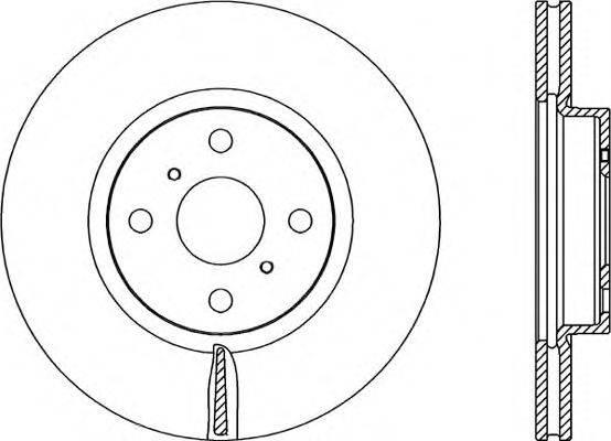 OPEN PARTS BDA231620 Тормозной диск
