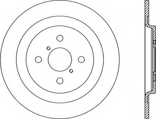 OPEN PARTS BDA233910 Тормозной диск