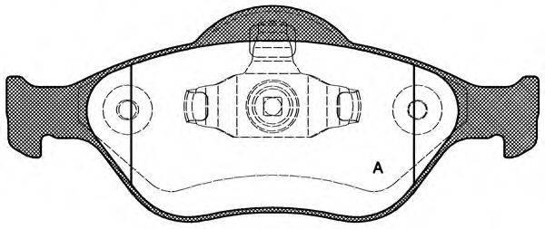 OPEN PARTS BPA076600 Комплект тормозных колодок, дисковый тормоз