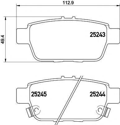 TEXTAR 2524301 Комплект тормозных колодок, дисковый тормоз