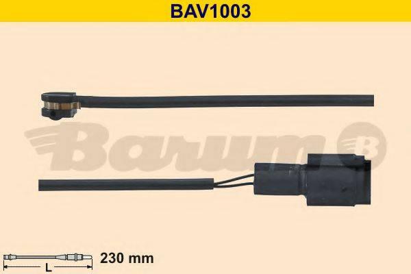 BARUM BAV1003 Сигнализатор, износ тормозных колодок