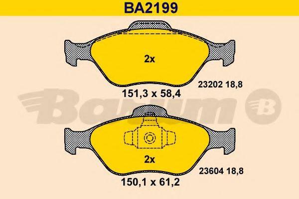 BARUM BA2199 Комплект тормозных колодок, дисковый тормоз
