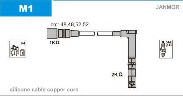 Комплект проводов зажигания JANMOR M1