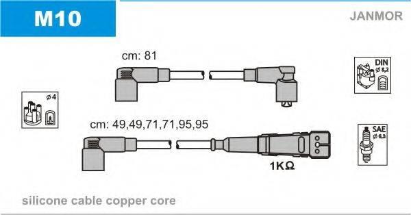 Комплект проводов зажигания JANMOR M10