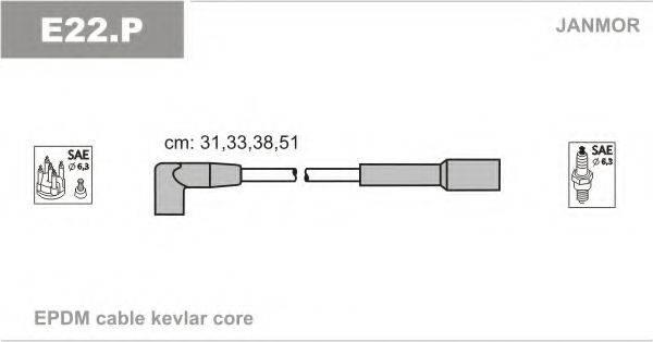 Комплект проводов зажигания JANMOR E22.P