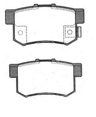 RAICAM RA04600 Комплект тормозных колодок, дисковый тормоз