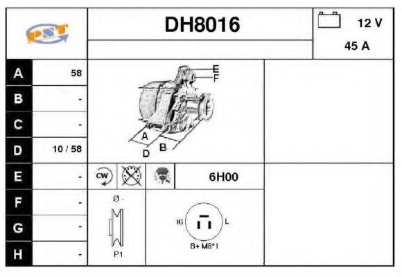 SNRA DH8016 Генератор