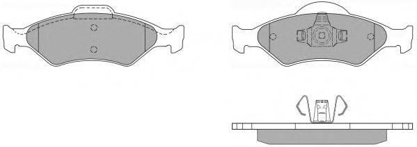 FREMAX FBP1158 Комплект тормозных колодок, дисковый тормоз