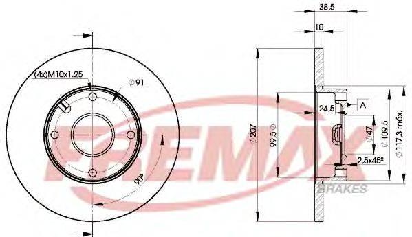 FREMAX BD7702 Тормозной диск