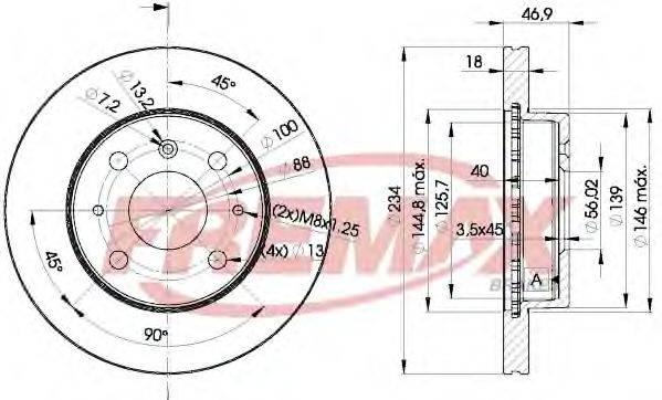 FREMAX BD7704 Тормозной диск