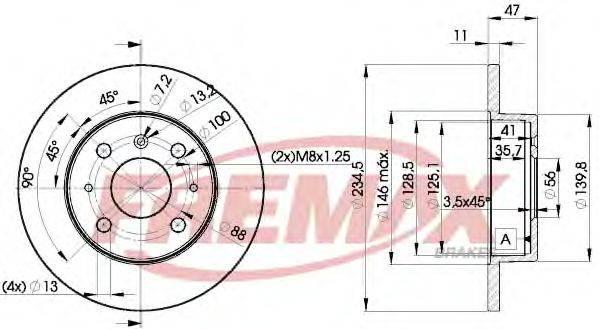 FREMAX BD7722 Тормозной диск