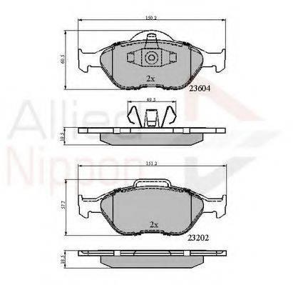 COMLINE ADB0891 Комплект тормозных колодок, дисковый тормоз