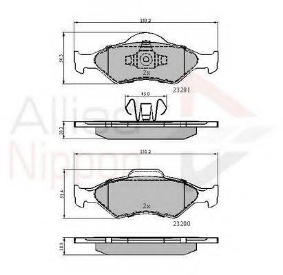 COMLINE ADB0899 Комплект тормозных колодок, дисковый тормоз