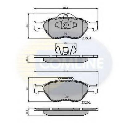 COMLINE CBP0891 Комплект тормозных колодок, дисковый тормоз