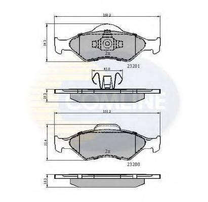 COMLINE CBP0899 Комплект тормозных колодок, дисковый тормоз