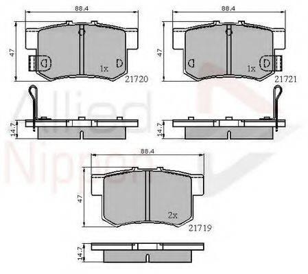 COMLINE ADB3445 Комплект тормозных колодок, дисковый тормоз