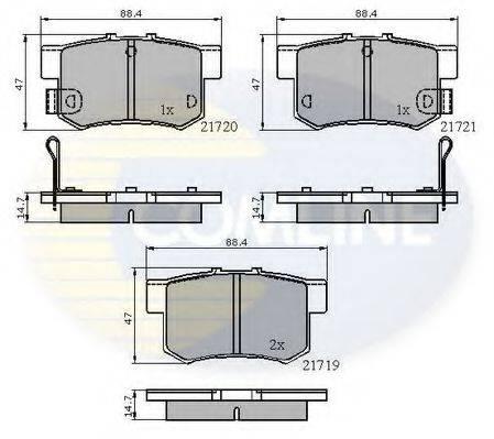 COMLINE CBP3445 Комплект тормозных колодок, дисковый тормоз