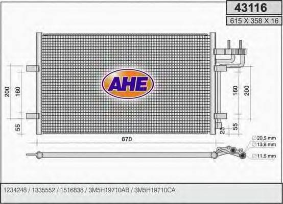 AHE 43116 Конденсатор, кондиционер