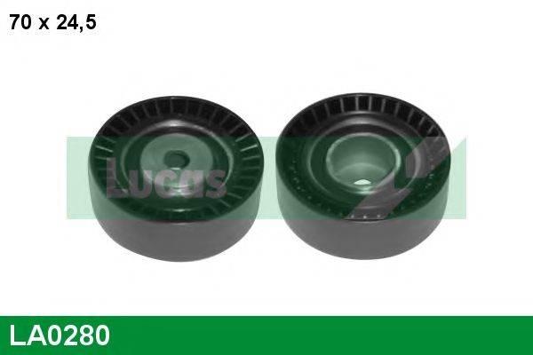 LUCAS ENGINE DRIVE LA0280 Паразитный / ведущий ролик, поликлиновой ремень