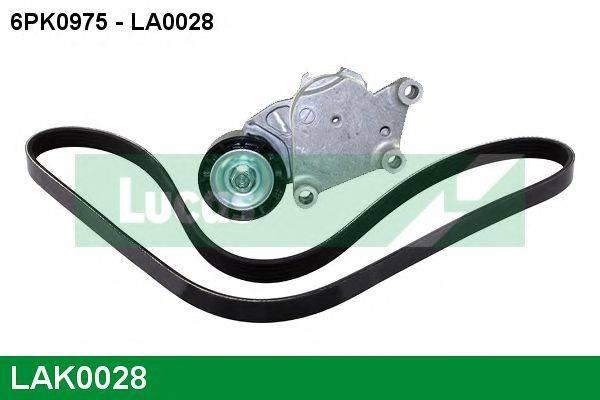 LUCAS ENGINE DRIVE LAK0028 Поликлиновой ременный комплект