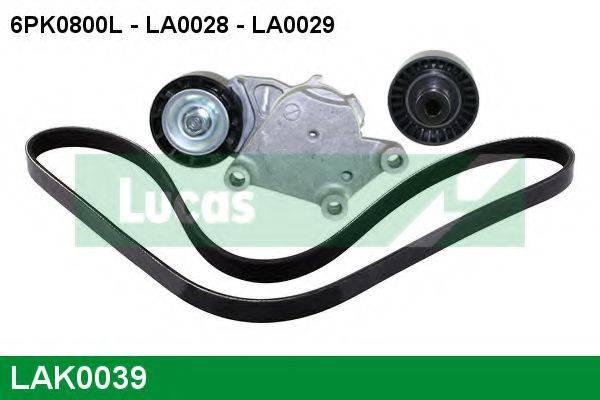 LUCAS ENGINE DRIVE LAK0039 Поликлиновой ременный комплект
