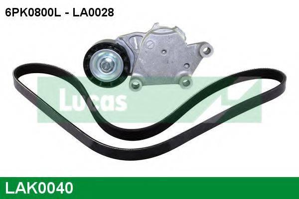 LUCAS ENGINE DRIVE LAK0040 Поликлиновой ременный комплект