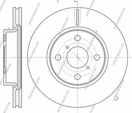 NPS T330A168 Тормозной диск