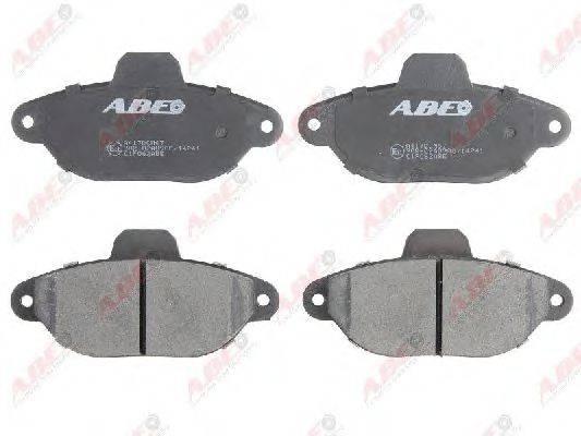 ABE C1F062ABE Комплект тормозных колодок, дисковый тормоз