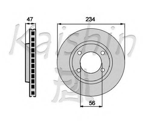 KAISHIN CBR180 Тормозной диск