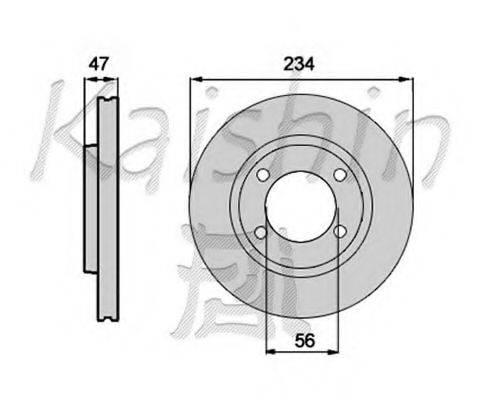 KAISHIN CBR308 Тормозной диск