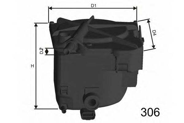 MISFAT F110 Топливный фильтр