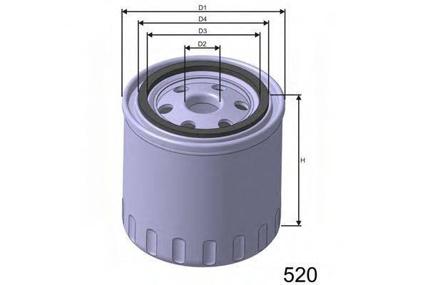 MISFAT Z176 Масляный фильтр