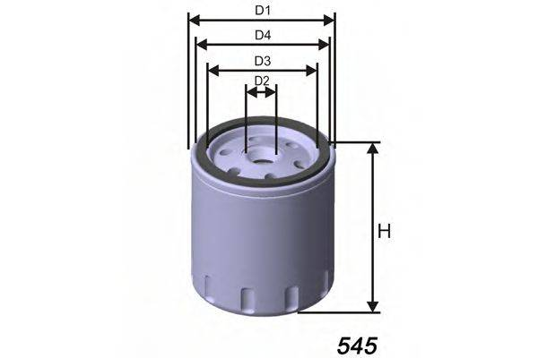 MISFAT Z298 Масляный фильтр