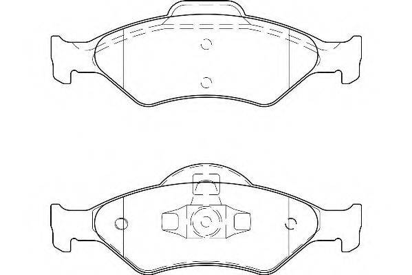WAGNER WBP23200A Комплект тормозных колодок, дисковый тормоз