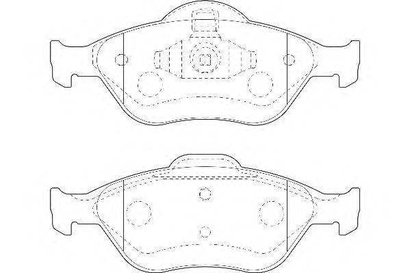 WAGNER WBP23202A Комплект тормозных колодок, дисковый тормоз