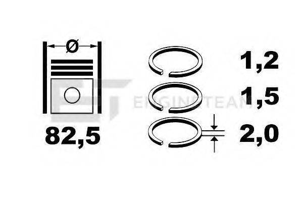 ET ENGINETEAM R1006700 Комплект поршневых колец