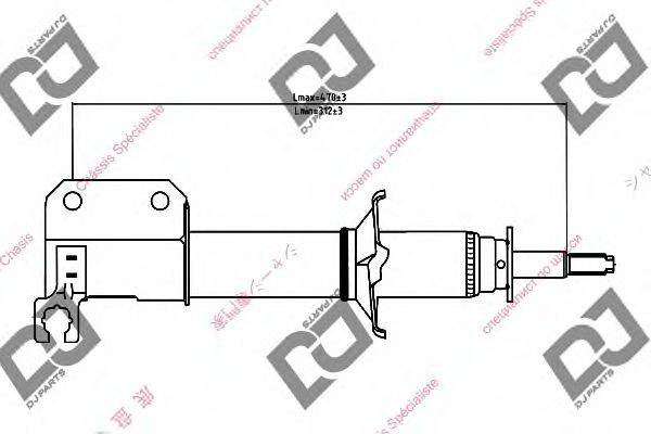 DJ PARTS DS1339GS Амортизатор