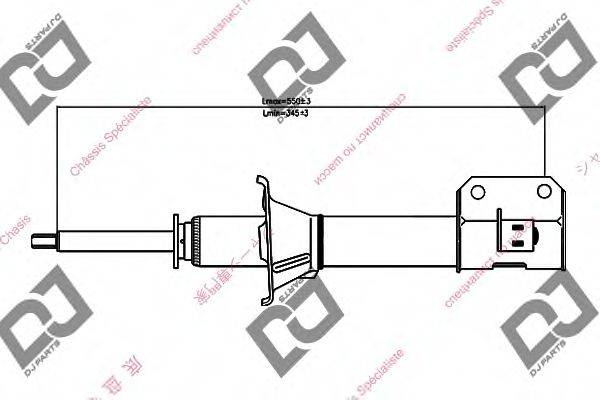 DJ PARTS DS1342GS Амортизатор