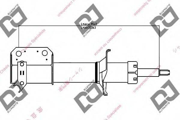 DJ PARTS DS1343GS Амортизатор