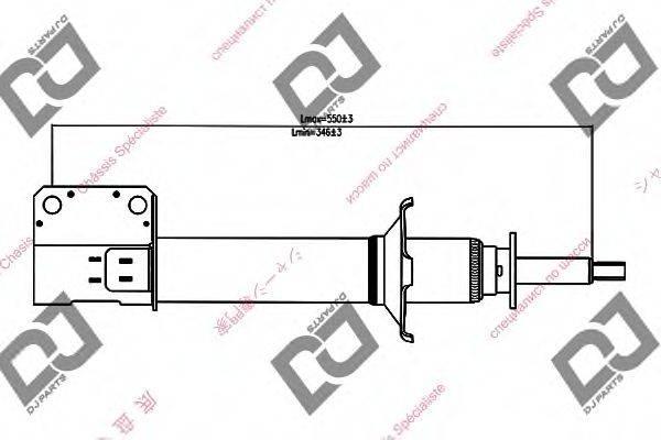 DJ PARTS DS1345GS Амортизатор