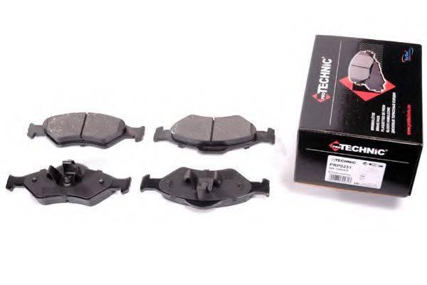 PROTECHNIC PRP0231 Комплект тормозных колодок, дисковый тормоз