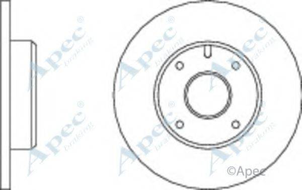 APEC BRAKING DSK129 Тормозной диск